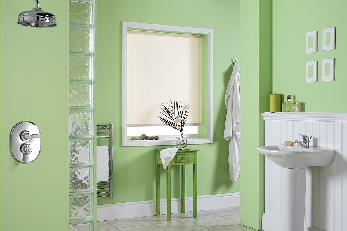 Manual Roller Shade Bathroom