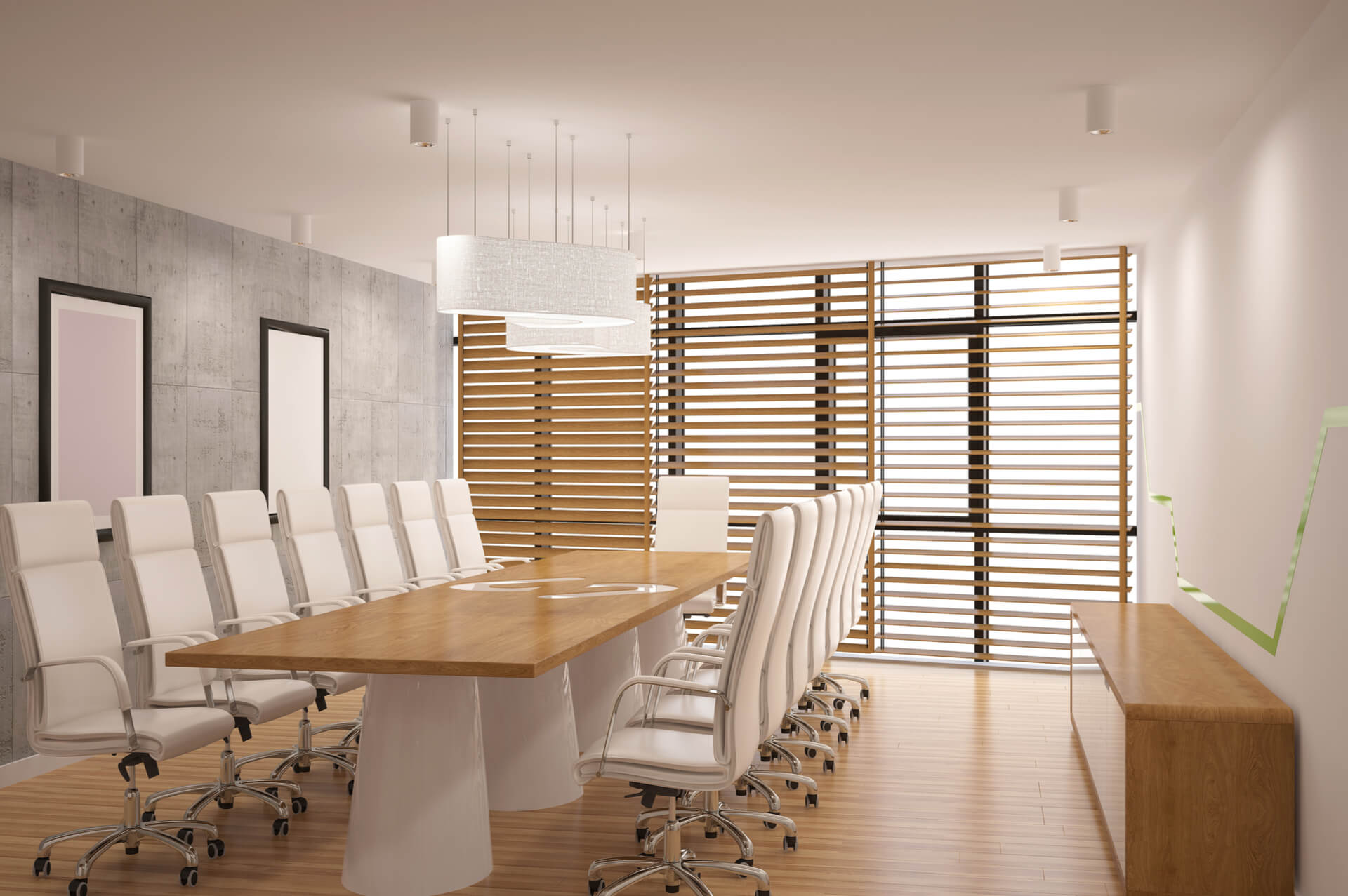 Office Wood Blinds Commerical