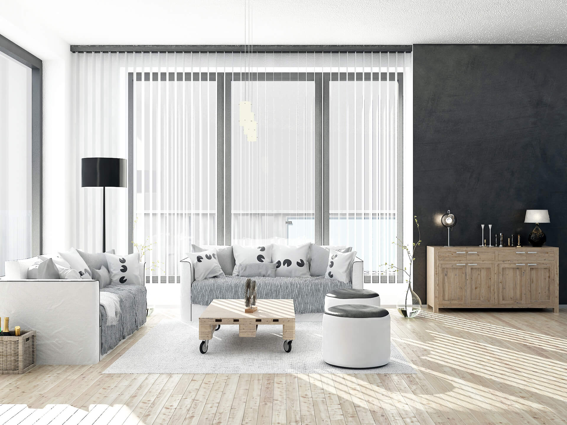 Vertical Blinds Full Height